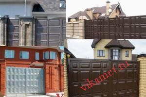Филенчатые ворота Каскад в городе Екатеринбург