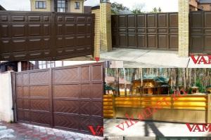 Филенчатые ворота Каскад в городе Фатеж