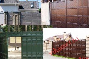 Филенчатые ворота Каскад в городе Геленджик