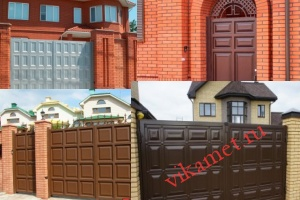 Филенчатые ворота Каскад в городе Гурьевск
