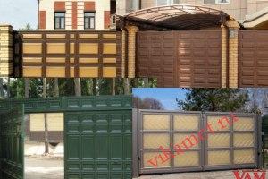 Филенчатые ворота Каскад в городе Гусиноозерск