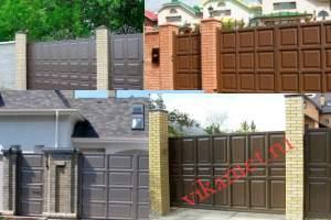 Филенчатые ворота Каскад в городе Харовск