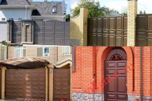 Филенчатые ворота Каскад в городе Ипатово