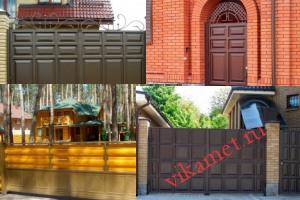 Филенчатые ворота Каскад в городе Ивангород