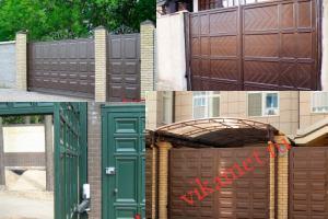 Филенчатые ворота Каскад в городе Калининград