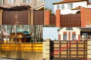Филенчатые ворота Каскад в городе Калтан