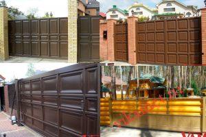 Филенчатые ворота Каскад в городе Калуга