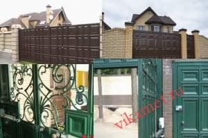 Филенчатые ворота Каскад в городе Калязин
