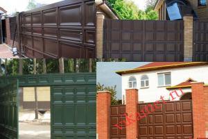 Филенчатые ворота Каскад в городе Карабаш