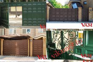 Филенчатые ворота Каскад в городе Карачаевск