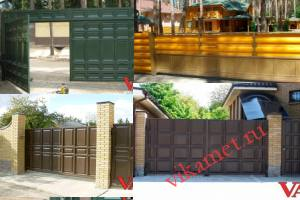 Филенчатые ворота Каскад в городе Кировград