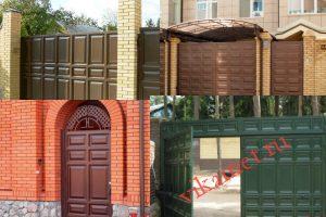 Филенчатые ворота Каскад в городе Кологрив