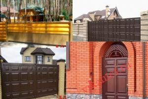 Филенчатые ворота Каскад в городе Кондрово