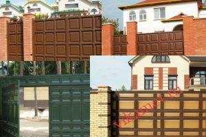 Филенчатые ворота Каскад в городе Корсаков