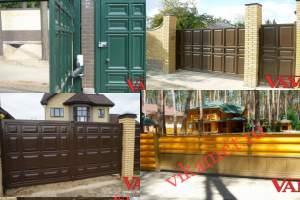 Филенчатые ворота Каскад в городе Коряжма