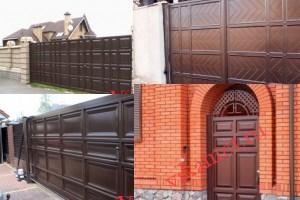Филенчатые ворота Каскад в городе Котельниково