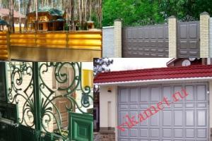 Филенчатые ворота Каскад в городе Красавино