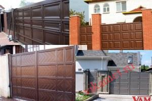 Филенчатые ворота Каскад в городе Краснознаменск