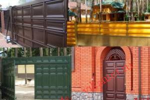 Филенчатые ворота Каскад в городе Красный Кут