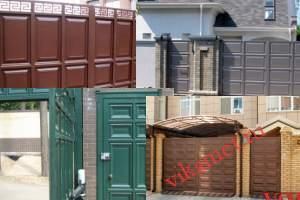 Филенчатые ворота Каскад в городе Кропоткин
