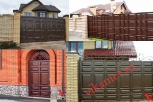 Филенчатые ворота Каскад в городе Курган