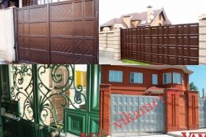 Филенчатые ворота Каскад в городе Курильск