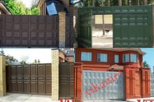 Филенчатые ворота Каскад в городе Кузнецк-8