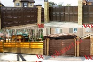 Филенчатые ворота Каскад в городе Кыштым