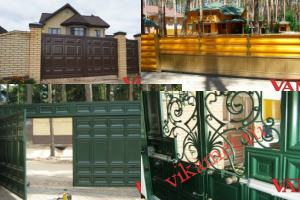 Филенчатые ворота Каскад в городе Лакинск