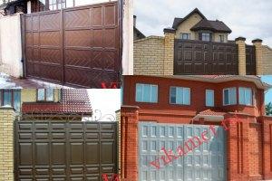 Филенчатые ворота Каскад в городе Ленинск-Кузнецкий