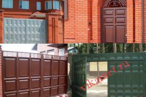 Филенчатые ворота Каскад в городе Ленск