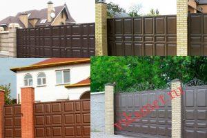 Филенчатые ворота Каскад в городе Лосино-Петровский