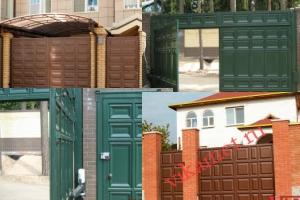 Филенчатые ворота Каскад в городе Макарьев