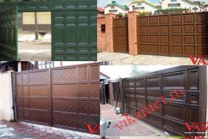 Филенчатые ворота Каскад в городе Мантурово