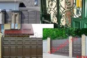 Филенчатые ворота Каскад в городе Мещовск