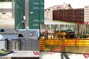 Филенчатые ворота Каскад в городе Мглин