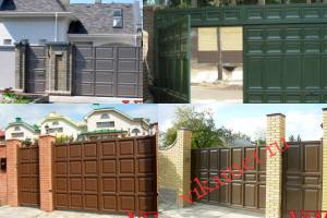 Филенчатые ворота Каскад в городе Миасс