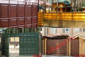 Филенчатые ворота Каскад в городе Миллерово