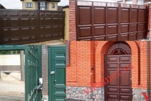 Филенчатые ворота Каскад в городе Морозовск