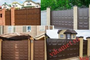 Филенчатые ворота Каскад в городе Моршанск