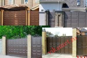 Филенчатые ворота Каскад в городе Мураши