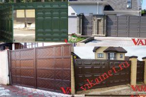 Филенчатые ворота Каскад в городе Находка