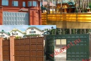 Филенчатые ворота Каскад в городе Навашино