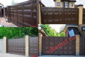 Филенчатые ворота Каскад в городе Нея