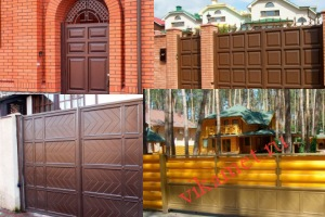 Филенчатые ворота Каскад в городе Нижний Ломов