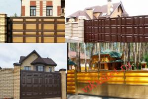 Филенчатые ворота Каскад в городе Нижняя Тура