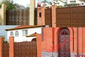 Филенчатые ворота Каскад в городе Новомичуринск