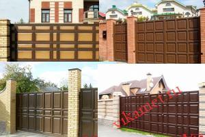 Филенчатые ворота Каскад в городе Новоржев
