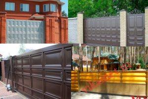Филенчатые ворота Каскад в городе Новосибирск