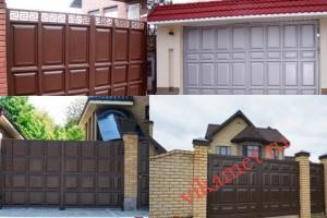 Филенчатые ворота Каскад в городе Оленегорск-1